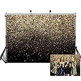 SJOLOON 7X5ft Birthday Backdrop Vinyl Photography Backdrop Golden Spots Glitter Background for Family Birthday Party Studio Props 11547