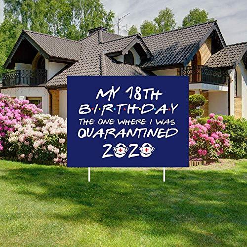 SOSPIRO 2020 Abschluss Party Yards Zeichen, Glückwünsch Klasse Von 2020 Graduate Yards Schild Abschluss Yards Schild Happy Geburtstag Außen Rasen Dekorationen - 18th Birthday-2020, 40 * 30 * 1 cm