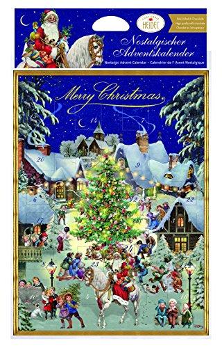 Heidel Confiserie Calendario dell'Avvento Linea Nostalgia con Cioccolatini di Cioccolato al Latte di Qualità Superiore Cacao Minimo 37% - 2 x 75 Gram