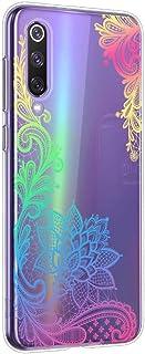 Oihxse Mandala Flores Encaje Patrón Serie Case Compatible con Huawei Y5 2019 Funda TPU Silicona Suave Protector Ultra Slim Anti-Rasguño Transparente Carcasa (A4)