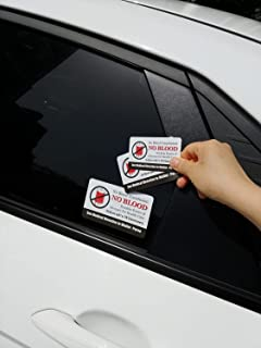 Vongsado No Blood Transfusion Premium Stickers Decal Accessories Set for Car Window Bumper Laptop Luggage Ministry Supplie...