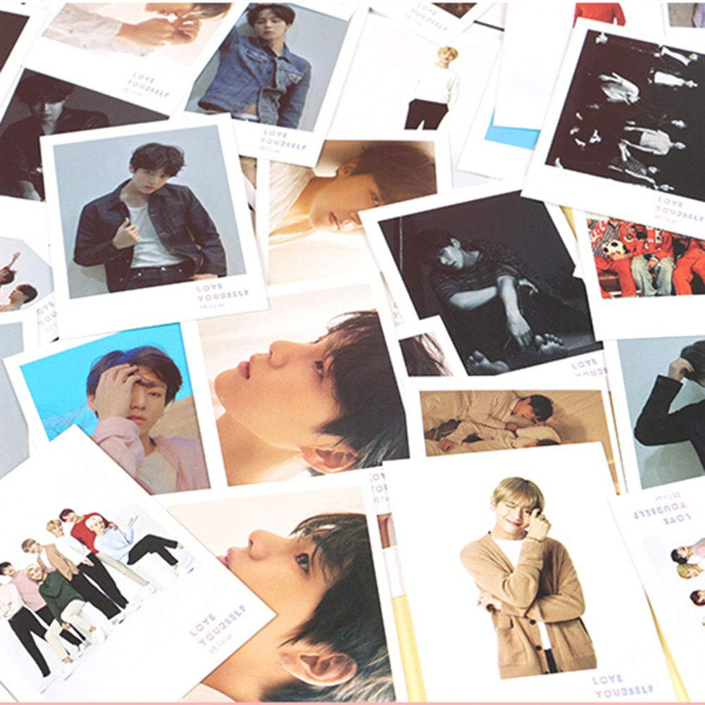 yovvin 45 Pack BTS Foto Tarjetas, Kpop bangtan Joven Jung Kook ...