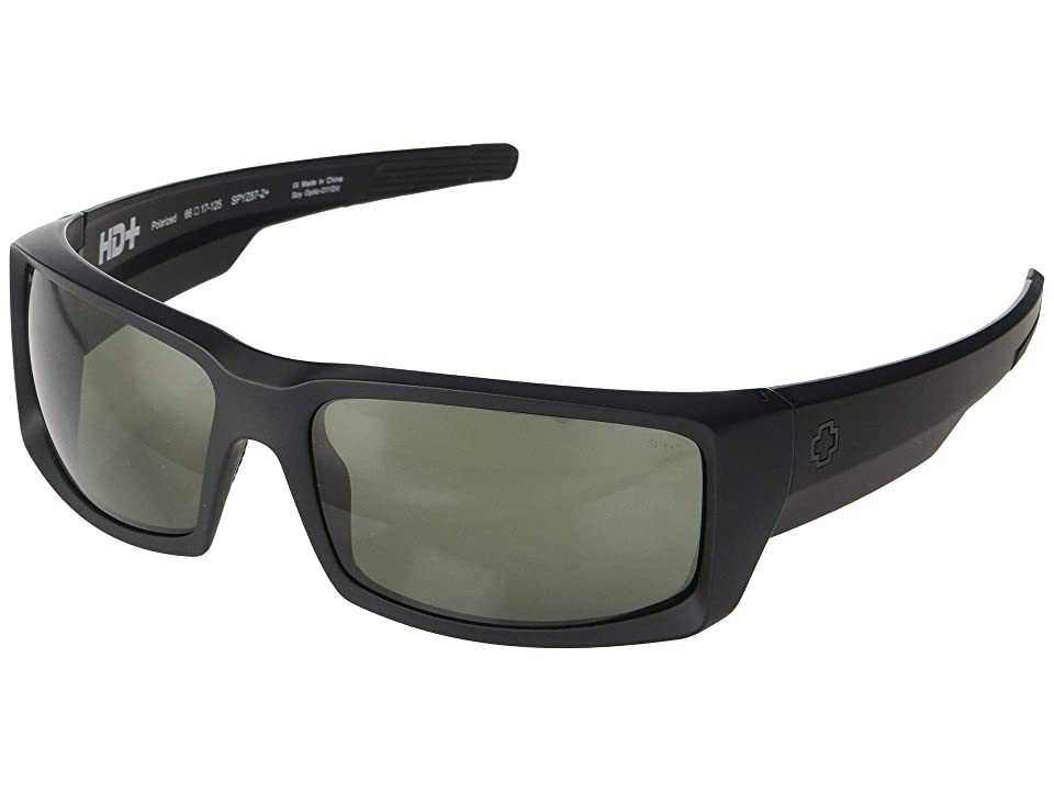 Spy Optic General (Matte Black Ansi RX/Happy Gray/Green Polarized) Sport Sunglasses