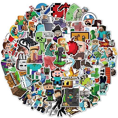 Mine_Craft Aufkleber Packung 100 Stück, Laptop-Aufkleber, Bombe, Vinyl-Aufkleber, verschiedene Packungen für Gepäck, Computer, Skateboard, Auto, Motorrad, Aufkleber für Jugendliche und Erwachsene