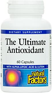 Natural Factors, Ultimate Antioxidant, Helps Reduce Free Radical Damage with Alpha-Lipoic Acid and Lutein, 60 capsules (30...