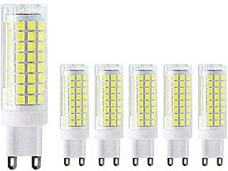 MD Lighting G9 LED Bulb 10W LED Corn Light Bulbs(6 Pack)- G9 Ceramic Bulbs Replacement 80W Equivalent Halogen Bulbs Daylight White 6000K G9 LED Bulbs for Home Lighting, Ceiling Fan, Dimmable, AC120V