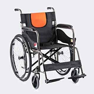 Wheelchairs, Folding Transport Chair with Handbrakes for Adults,Ultra Lightweight Manual Wheel Chair for Travel and Storag...