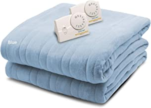Biddeford Blankets Comfort Knit Heated Blanket, King, Cloud Blue