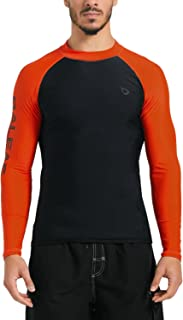 Baleaf Men's Basic Long Sleeve Rashguard UV Sun Protection Athletic Swim Shirt UPF 50+