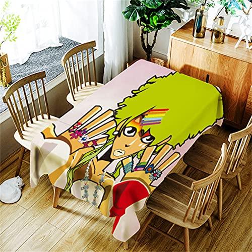 Impresión De Dibujos Animados Impermeable Hogar Cocina Antiincrustante Polvo Rectangular Mantel Mesa De Centro Mantel Mesa De Ordenador Mesa Cuadrada Decoración De Sala De Estar Fiesta 150x300cm