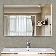 Rectangular Wall Mirror Metal Frame Decorative Mirror Makeup Mirror Vanity Mirror for Bathroom Living Room Bedroom (Color ...