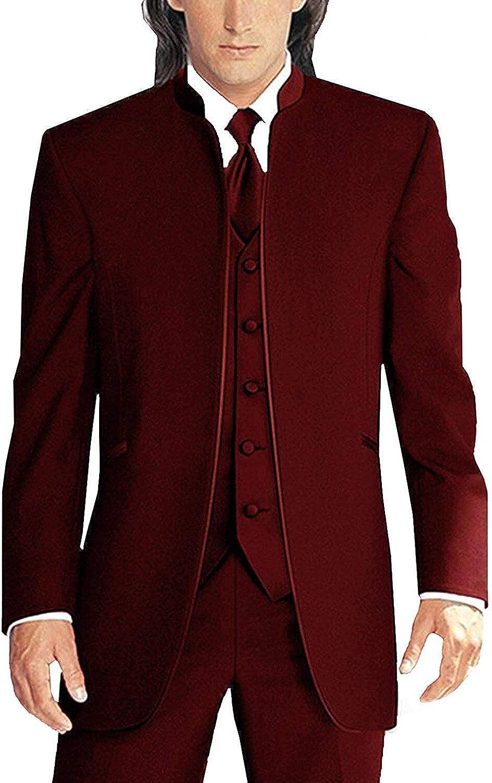 Men's 3 Pieces Suit Blazer Single Breasted Classic Wedding Suit