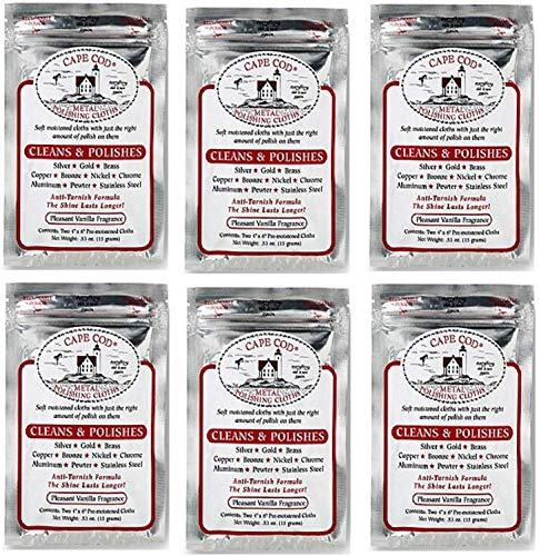 Cape Cod Metal Polishing Cloths with Counter Display (Case of 6)
