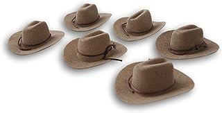 Craft Decor Set of Six (6) Miniature Felt Cowboy Hats for Crafts, Decorating & More