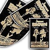 James Brown Sänger-Poster zum Bemalen auf Leinwand,