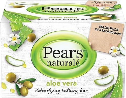 Pears Natural Aloe Vera Detoxifying Soap Bar 125 g Pack of 3