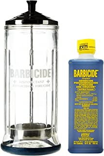 King Research Barbicide Disinfecting Jar Large 37oz + Disinfectant 16oz