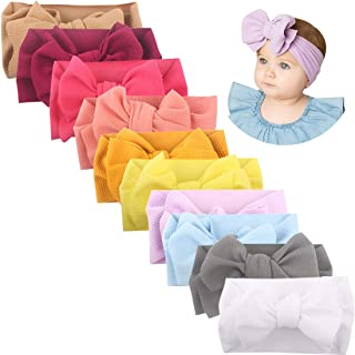 Newborn Big Bows, Soft Baby Big Bows baby girl headbands for Girls, Baby Turban Headwraps and Headbands for Baby Girls