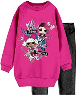 Prodotto Originale con Licenza Ufficiale Leggings in Cotone Elasticizzato Full Print Characters Cartoons LOL Surprise Bambina