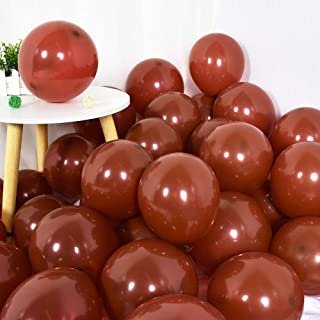 100Pcs Brown Balloonns 10 Inch Brown Latex Round Party Balloons for Party Birthday Wedding Graduation Anniversary Baby Shower