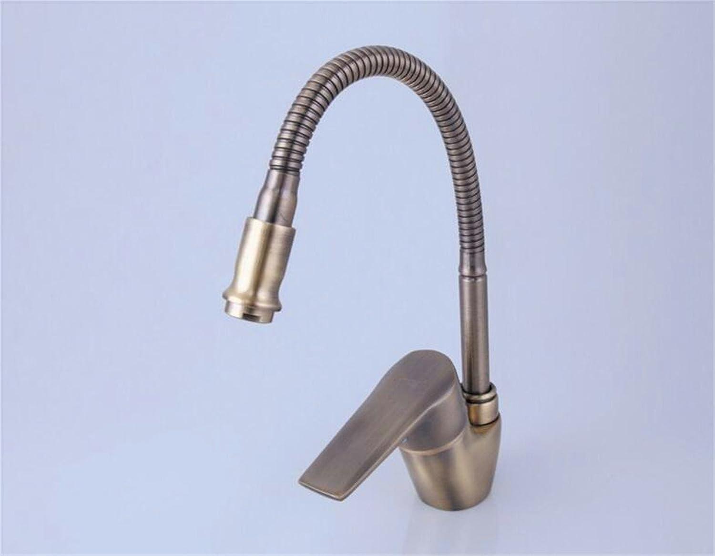 JMQXL Antique kitchen hot and cold faucet can be redated faucet dish wash basin sink bowl sink faucet whole copper