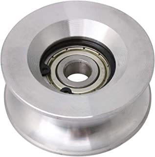 BQLZR 10x60x25mm Bearing Steel Aluminum Passive Round Guide Pulley Wheel Rail Roller Load 199KG for Steel Wire Rope Idler Wheel