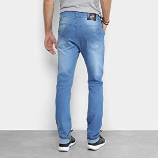 Calça Jeans Skinny Coffee Estonada Cintura Alta Masculina