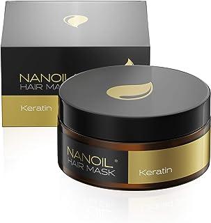 Nanoil, maschera per capelli con cheratina, 300 ml, rigenera e rivitalizza, rinforza i capelli deboli, cura intensiva
