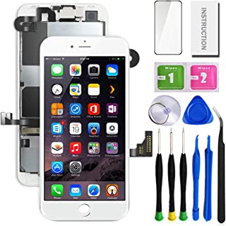 """SunlerPro for iPhone 8plus White 5.5"""" LCD 3D Touch Digitizer Screen Replacement with Front Camera+ Earpiece+ Tools Kit+ Sc..."""