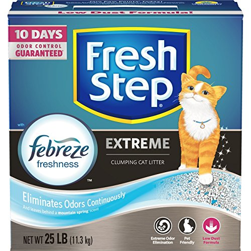 Fresh Step Extreme Scented Litter with the Power of Febreze, Clumping Cat Litter, 25 Lb
