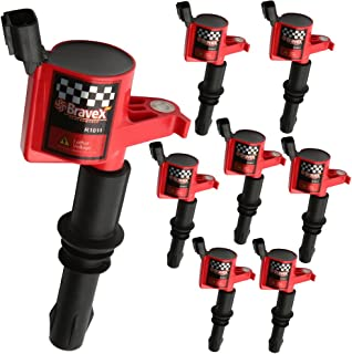 Bravex Professional Racing Coil for Ford F150 F-150 Lincoln Mercury V8 V10 4.6L 5.4L 6.8L Compatible with DG511 C1541 FD508-8 PACK (15% More Energy)