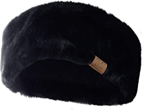 C.C Women's Soft Faux Fur Feel Sherpa Lined Ear Warmer Headband Headwrap
