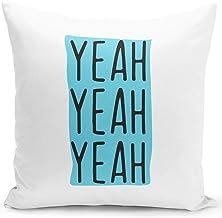 وسادة مطبوع عليها عبارة Yeah Yeah Sarcastic Pillow For Friends من Loud Universe