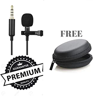 Frocel Lavalier Lapel Coller Microphone Kit with Voice Recording Filter Mic for Recording Singing Youtube on Smartphones (Black)
