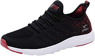 Couples Sneakers,2020 Fashion Casual Mesh Breathable Lace-up Running Sport Tennis Shoes for Women and Men by Sopzxclim