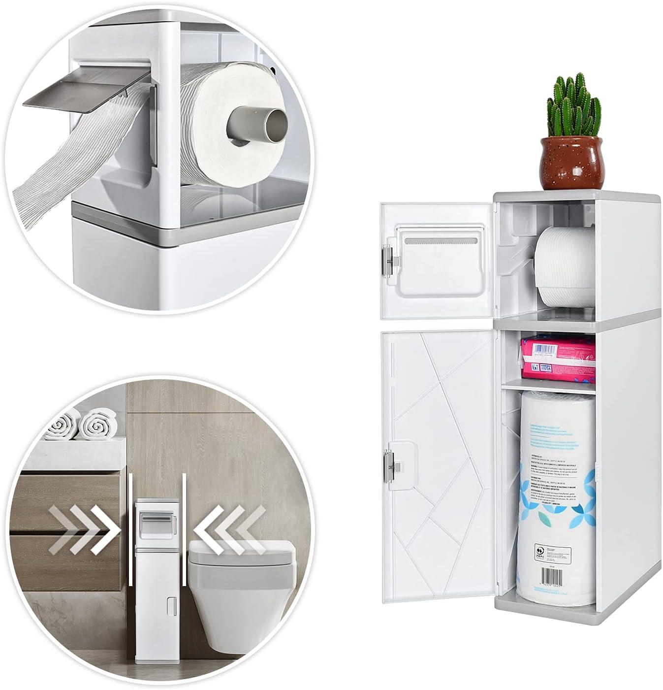New product! New type ESTHELLO Bathroom Max 50% OFF Storage Toilet Tall Cab Paper Narrow
