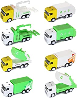 baidercor Mini Toy Cars Garbage Truck Vehicles Set of 8