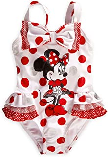 Store Minnie Mouse Swimsuit Size XS 4/4T White/Red Polka Dot Swimwear