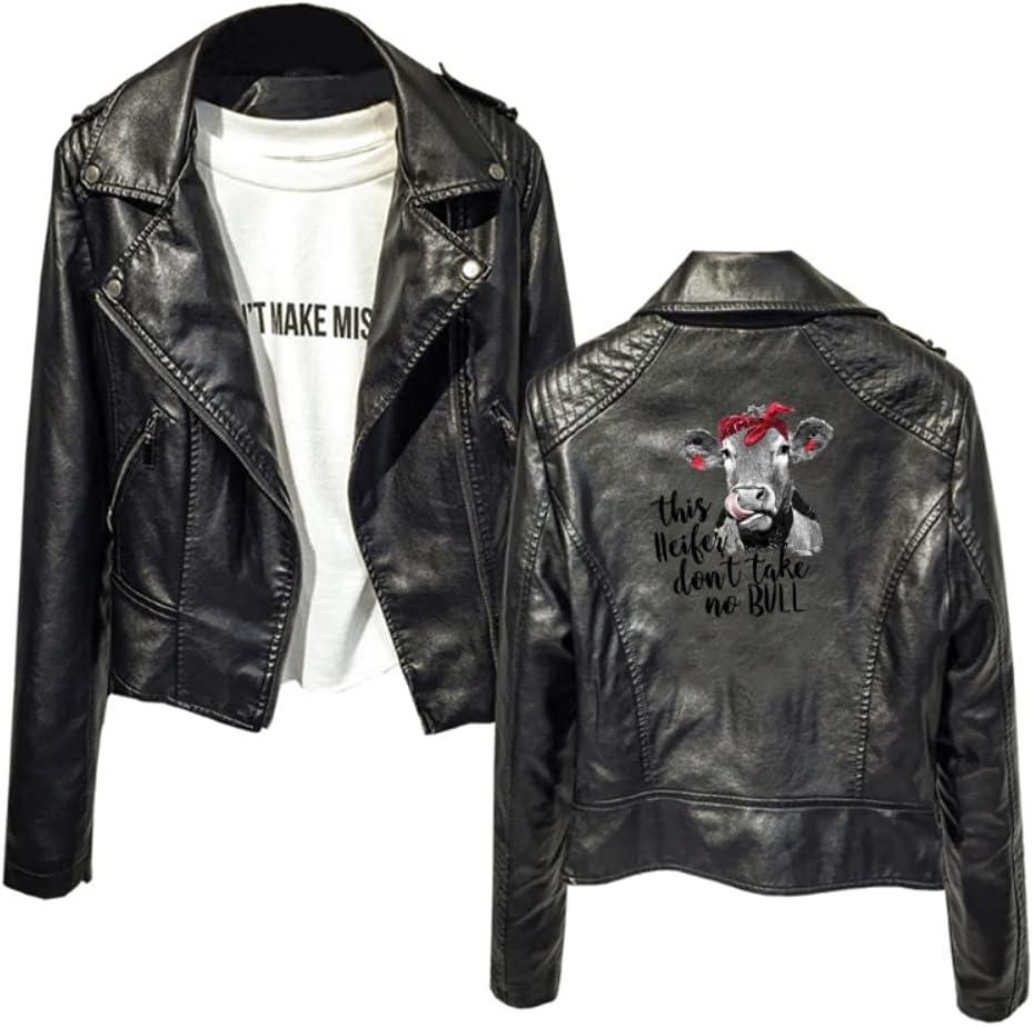 Kjlkljhgfjh Outerwear This Heifer Don't Take No Bull Thin Coats Fashion Classic Women (Color : Black01, Size : X-Small)