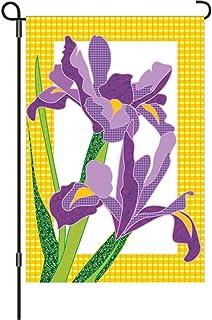 Premier Kites 51153 Garden Brilliance Flag, Giselle Irises, 12 by 18-Inch