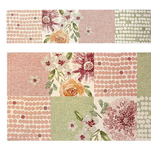 Sander Gobelin Frühjahr Mitteldecke NERISSA PATCH, 96x96 cm, Farbe 05- rosa