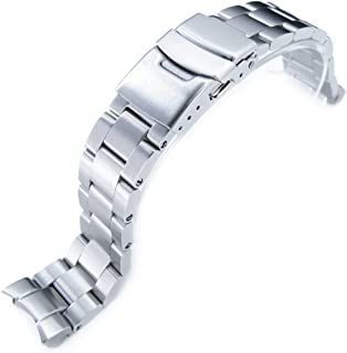 20mm Super Oyster Watch Bracelet Replacement for Seiko SKX013, Brushed 316L Stainless Steel