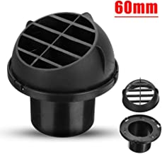 blue--net Car Heater Duct Warm Air Vent Outlet,Dashboard AC Heater Air Vent Duct Chrome Air Vent Outlet 60mm
