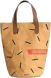 Large-capacity handbag, single shoulder bag, lady bag, water-washed kraft Dupont paper, environmental protection shopping bag