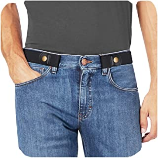 """No Buckle Stretch No show Belt for Men 1.38"""" Wide, Buckless Invisible Elastic Belt for Jeans Pants"""