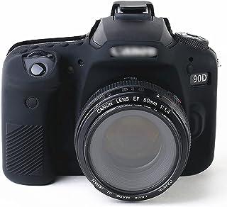 キヤノン Canon EOS 90D用 ケース Sooyeeh シリコン製 軽量 耐衝撃 ソフト 旅行 アウトドア撮影 男女兼用 Canon デジタル一眼レフカメラ EOS 90D用 カメラケース 保護カバー(ブラック)