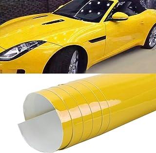 LENASH 8 × 0.5 متر السيارات التفاف فيلم التفاف pc PVC تغيير الجسم (اللون: كريستال أصفر)