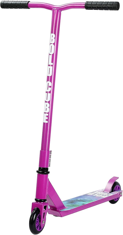 BOLDCUBE Patinetes de Acrobacias - Freestyle Pro Truco de 360 Grados - Plataforma de Aluminio Liviana - Freestyle Stuntscooter para Adultos y niños (Morado)