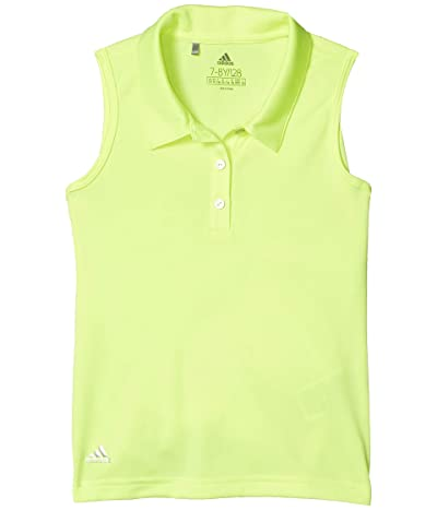 adidas Golf Kids Tournament Sleeveless Polo Shirt (Little Kids/Big Kids) (Solar Yellow) Girl