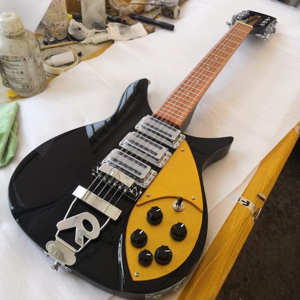 LYNLYN Guitarras 12 Cuerdas Eléctrica Guitarra Acústica Cuerda Guitarras Guitarra Cuerdas Acero Acústico Guitarra eléctrica (Size : 34 Inches)